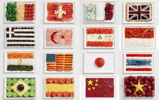 flags made of food