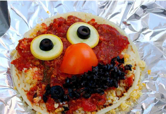 sesame street birthday party elmo pizza