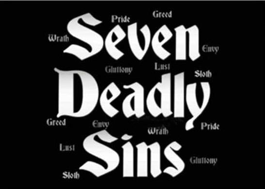 seven deadly sins party  invitations