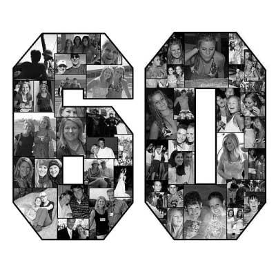 60th birthday photo collage