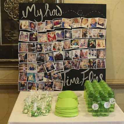time flies photo display party decorations
