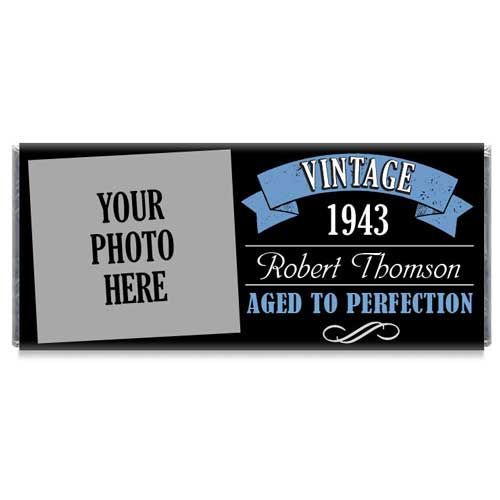 personalized milestone birthday party candy bar wrappers