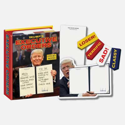 Trump's executive order sticky notes