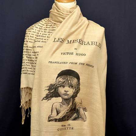 literary scarves Les Miserables