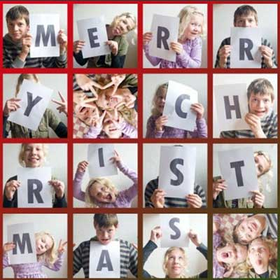 merry christmas photo collage