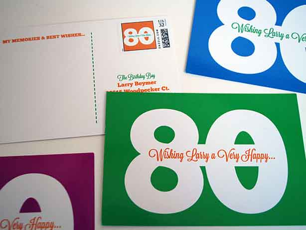 30 messages from 30 friends postcards
