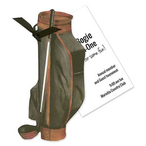 illustrated golf invitation