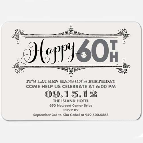 happy 60th invitation