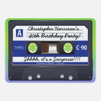 cassette tape invitations