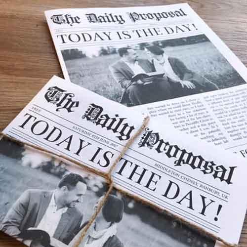 newspaper invitations