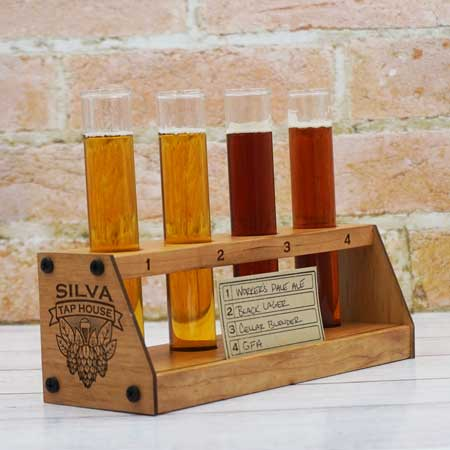 personalized beer flight test tubes
