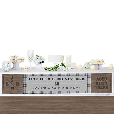 Aged to Perfection 60th birthday banner