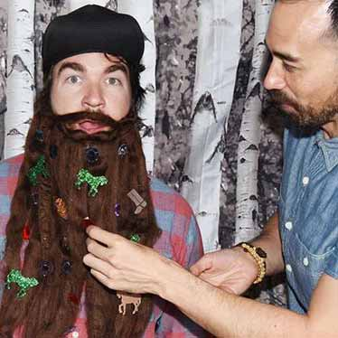 lumberjack beard decorating