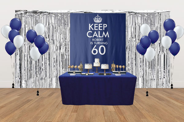 custom Keep Calm dessert table