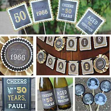 Cheers to 60 years party supplies