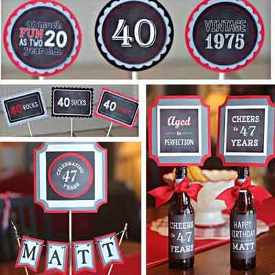40/50/60 Rocks birthday party supplies