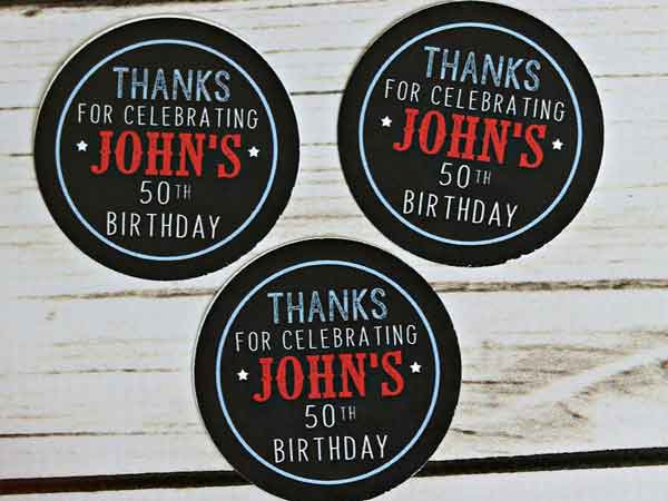 BBQ theme milestone birthday stickers