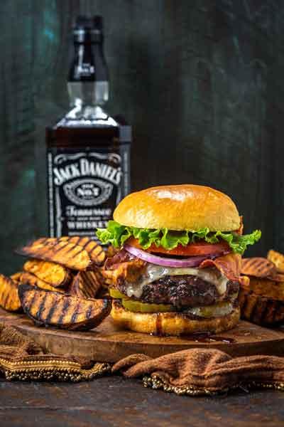Jack Daniels burger