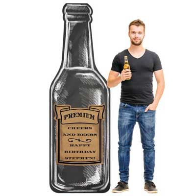 Beers to You beer bottle standee