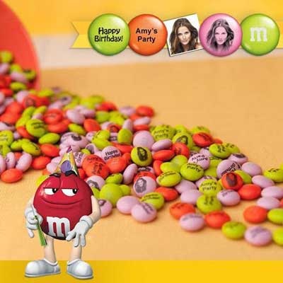 Personalized M&M's