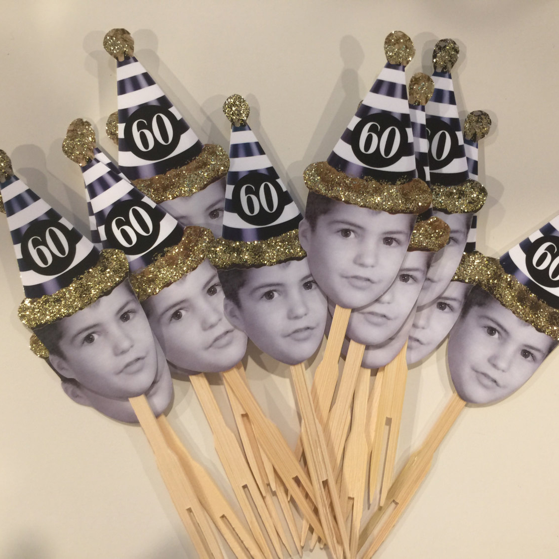 Custom photo cupcake toppers