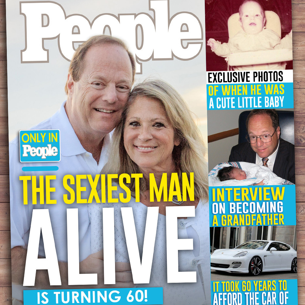 People Magazine Sexiest Man Alive 60th Birthday Invitation