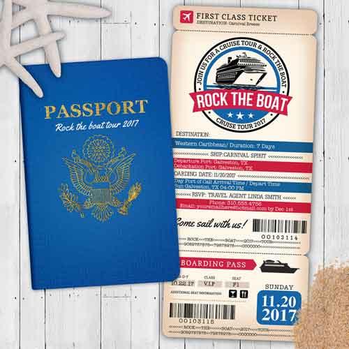 60th Birthday Party Invitation passport