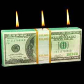 dollar bill candle