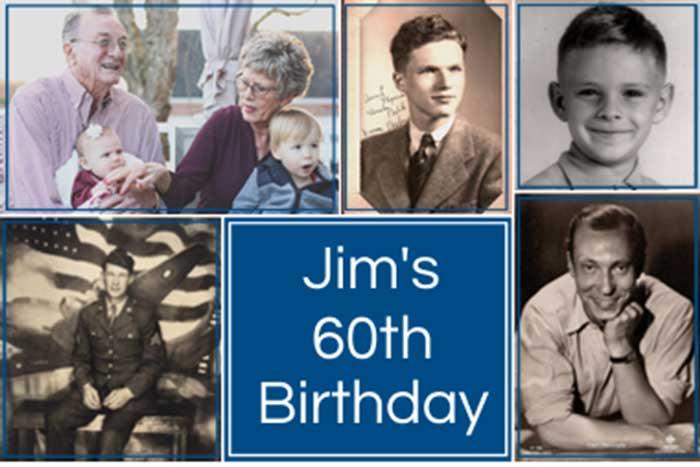 milestone birthday photo collage banner
