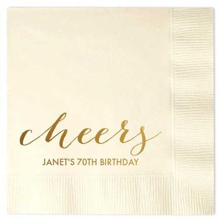 personalized paper cocktail napkins aged to perfection