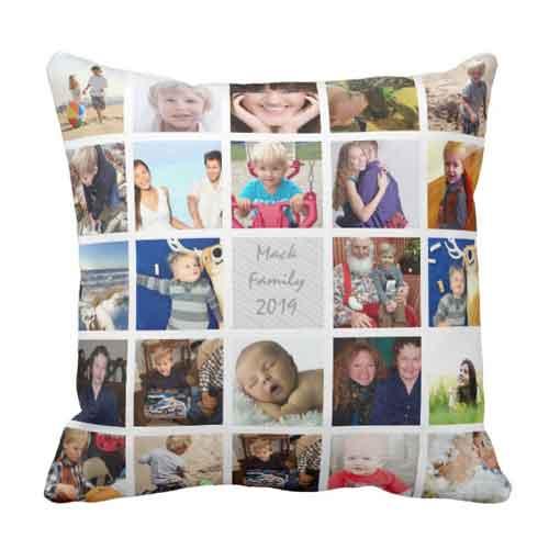 photo collage cushion pillow