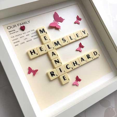 Personalized Scrabble Box Frame