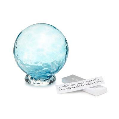 hand blown glass wishing ball