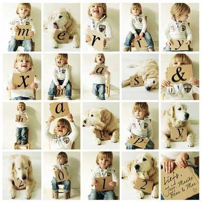 merry xmas photo collage