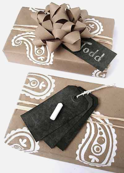 numbered gift tags