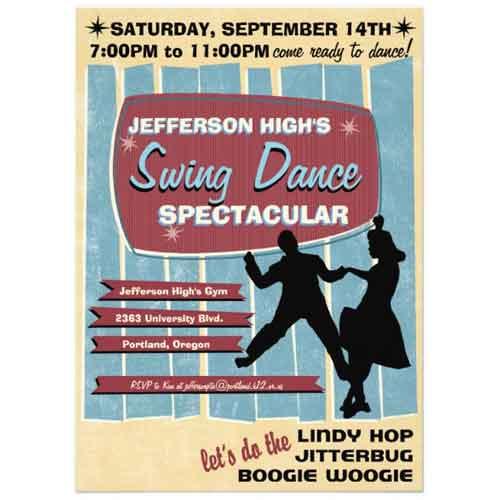 swing dance invitation