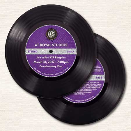 70th Birthday Party Invitation Vinyl Record