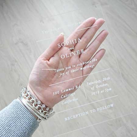 transparent acrylic invitations
