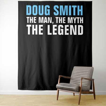 Custom The Man, The Myth, The Legend backdrop