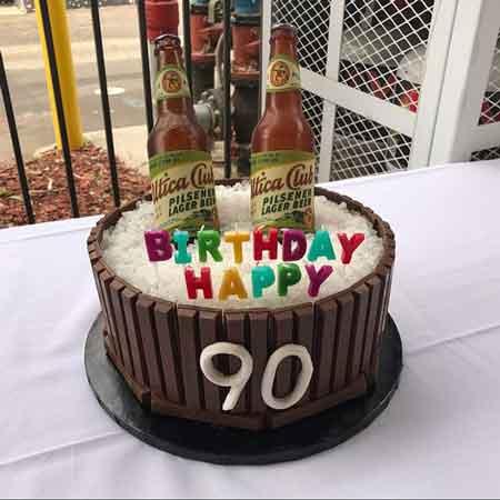 edible beer bottle cake topper