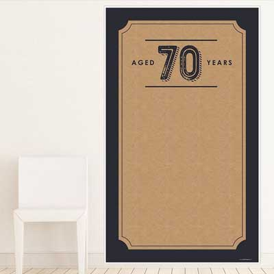 Aged to Perfection 70th birthday backdrop