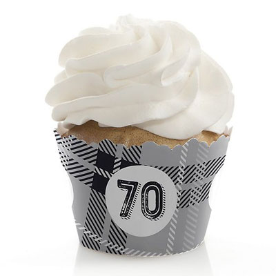 Aged to Perfection 70th birthday cupcake toppers