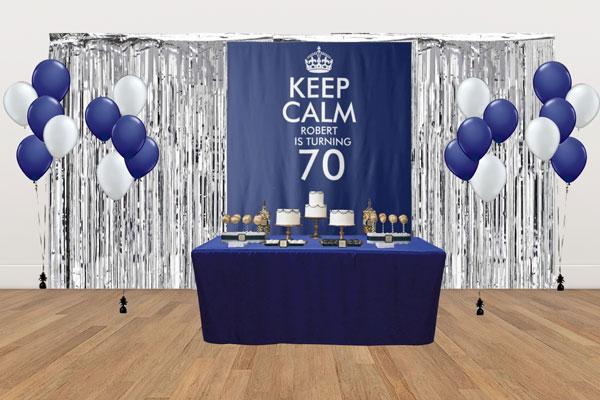 custom Keep Calm dessert table