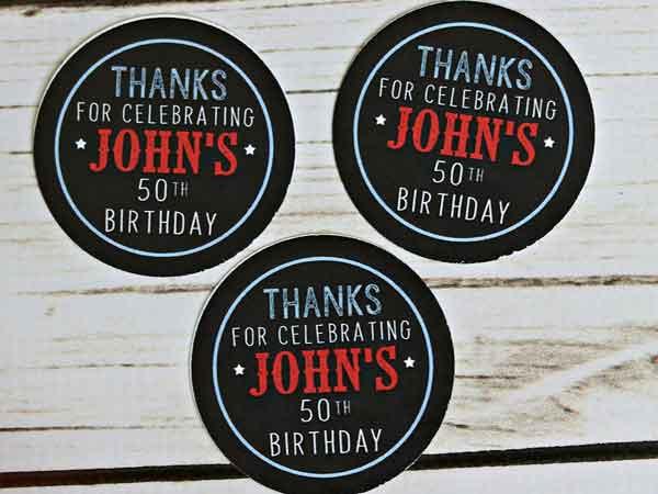 BBQ theme milestone birthday stickers
