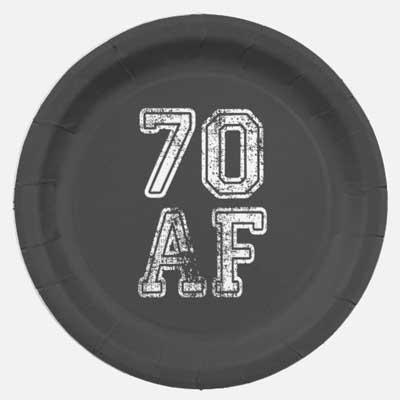 70 AF party plates