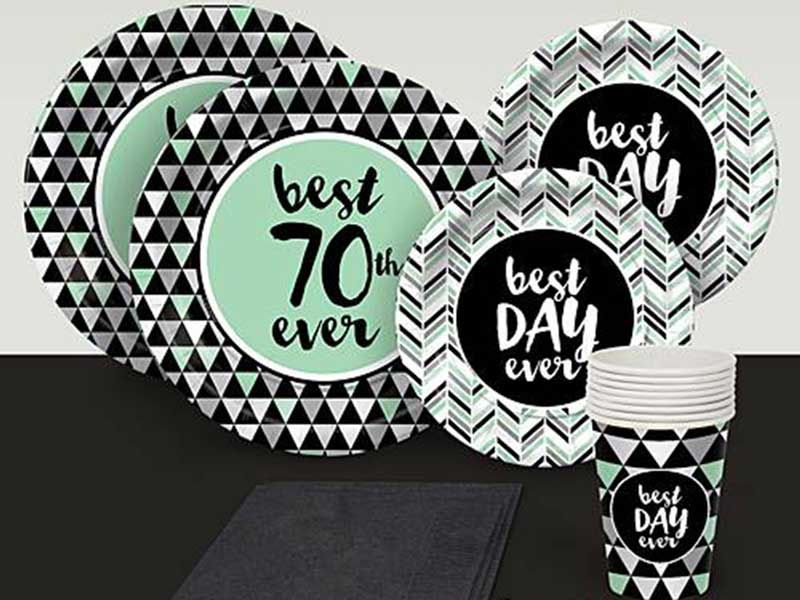 Best Day Ever 70th birthday party supplies
