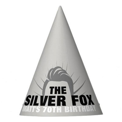 The Silver Fox party hats