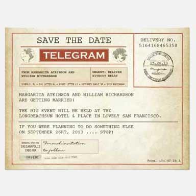 70th Birthday Party Invitation telegram