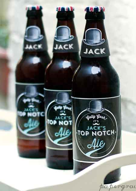 personalized beer bottle labels 80th birthday party