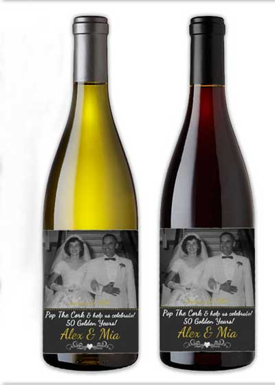 personalized wine bottle labels with custom photo